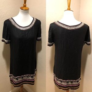 {Anthro} Maeve Black Sequin dress